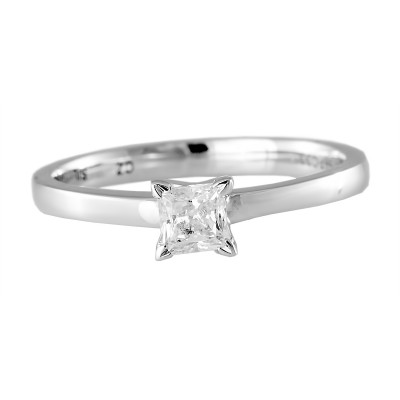 SINGLE STONE PRINCESS CUT DIAMOND RING